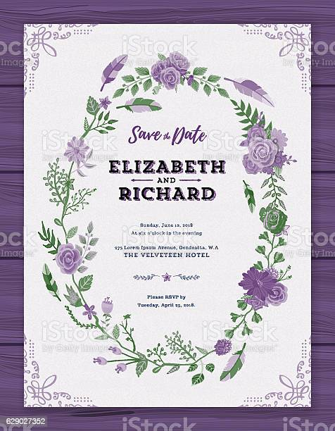 Floral wedding invitation template vector id629027352?b=1&k=6&m=629027352&s=612x612&h=t pchftgxslhb0is ytzz4ljpbnbukmri9j04jhicpq=