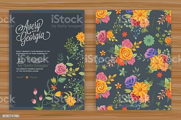 Floral wedding invitation template vector id629274760?b=1&k=6&m=629274760&s=612x612&h=uoonivjw7qjcyevb3k9vyeyx9vaspcf3dtgzqxe3dm8=