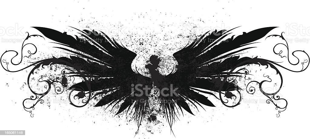 floral wings royalty-free stock vector art