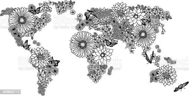 Floral world map for coloring books vector id509800772?b=1&k=6&m=509800772&s=612x612&h=fggaafyil ahsriskofhxjfby91qjjikvt9f5jakid0=