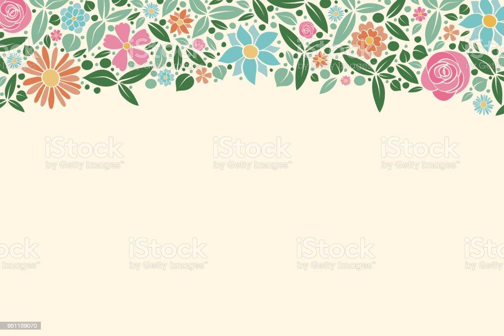 Ilustración De Guirnalda Floral Concepto De Un Fondo De Primavera