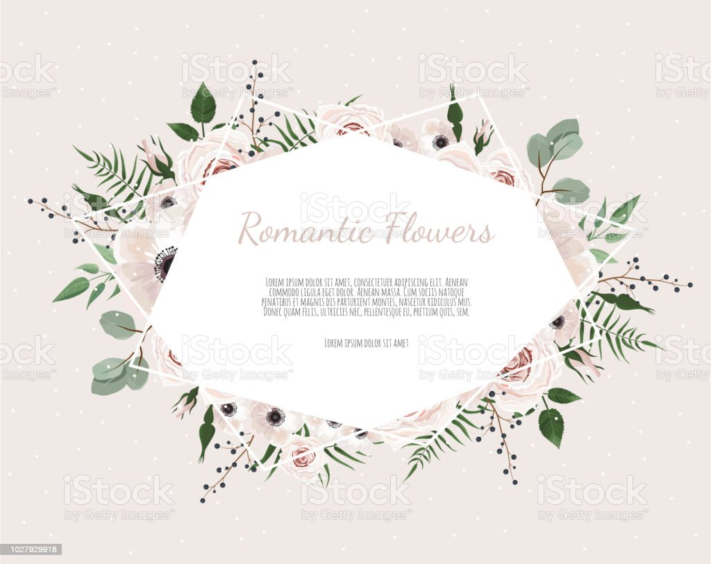 Floral wreath with green eucalyptus leaves, flower rose, anemone . Frame border with copy space eps10 floral wreath with green eucalyptus leaves flower rose anemone frame border with copy space eps10 - immagini vettoriali stock e altre immagini di albero royalty-free