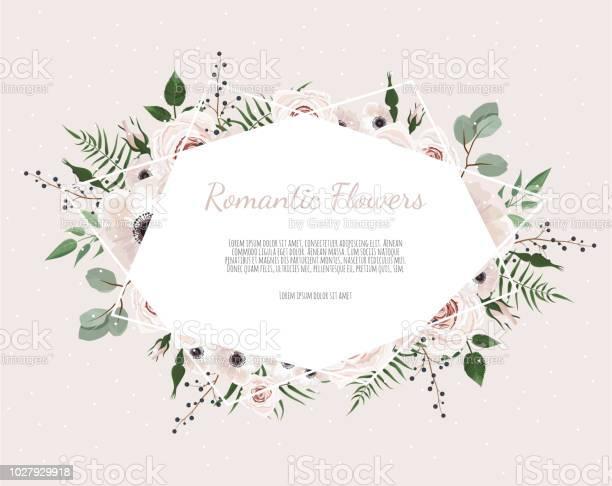 Floral wreath with green eucalyptus leaves flower rose anemone frame vector id1027929918?b=1&k=6&m=1027929918&s=612x612&h=ohfz3hc2j8ningjlkyzuvreqfjrh9v4jvu94rw8qvyi=