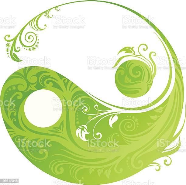 Floral Yinyang Symbol-vektorgrafik och fler bilder på Andlighet