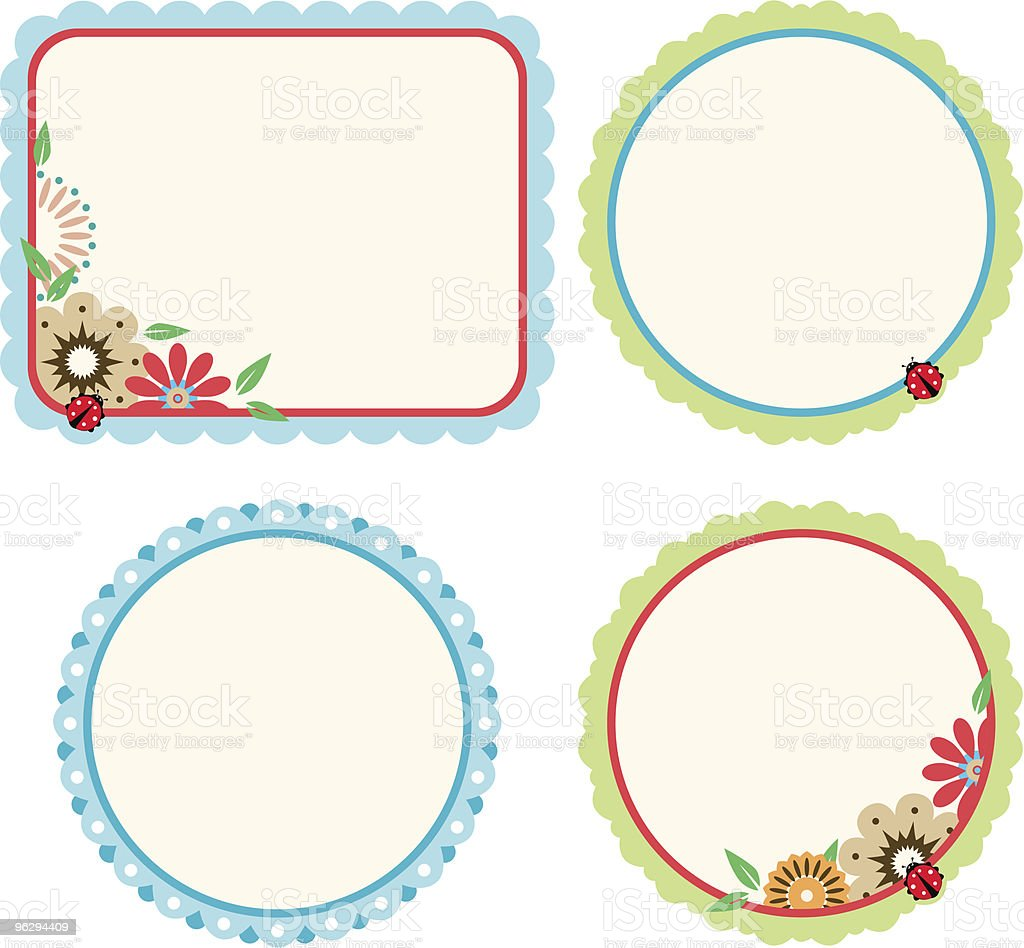 floral_frame_set royalty-free floralframeset stock vector art & more images of abstract