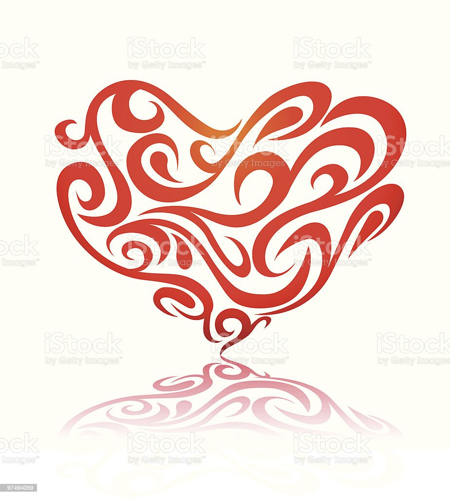 Floral/Ornamental Heart royalty-free floralornamental heart stock vector art & more images of color image