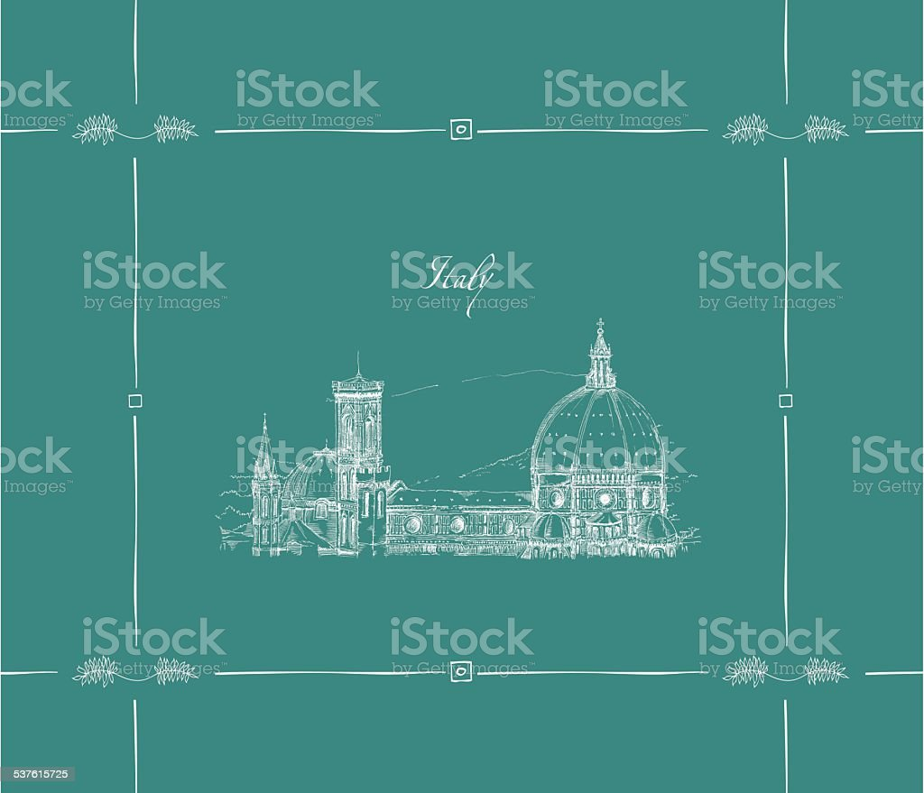 Florence, Italy vector art illustration