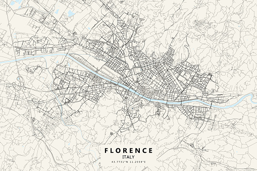 Florence, Italy Vector Map