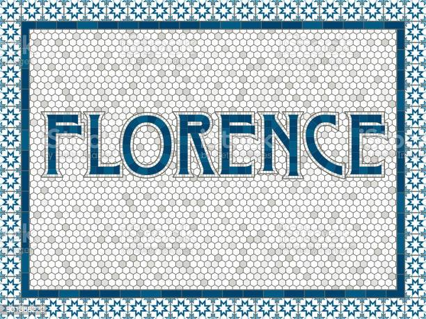 Florence old fashioned mosaic tile typography vector id901386222?b=1&k=6&m=901386222&s=612x612&h=6qpvenhqgz5ofrlyqmuswuahu9rlbkevdsfyo8mn3hs=