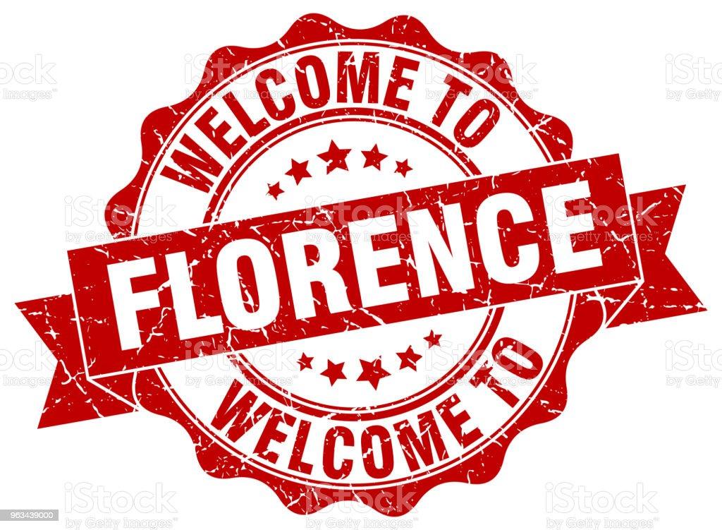 Florence rond ruban joint - clipart vectoriel de Badge libre de droits