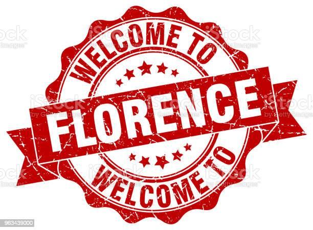 Okrągła Pieczęć Wstążkowa Florencji - Stockowe grafiki wektorowe i więcej obrazów Bez ludzi