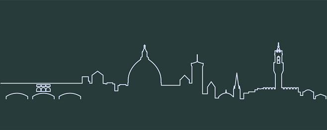 Florence Single Line Skyline