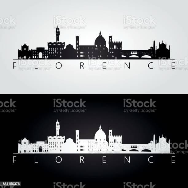 Florence skyline and landmarks silhouette black and white design vector id831150376?b=1&k=6&m=831150376&s=612x612&h=b0elb8ayw9fruqdhyyxjnz9qkc5zxh73kwqb30vhuku=