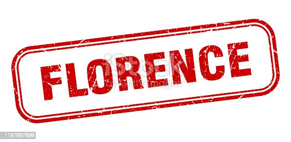 Florence stamp. Florence red grunge isolated sign