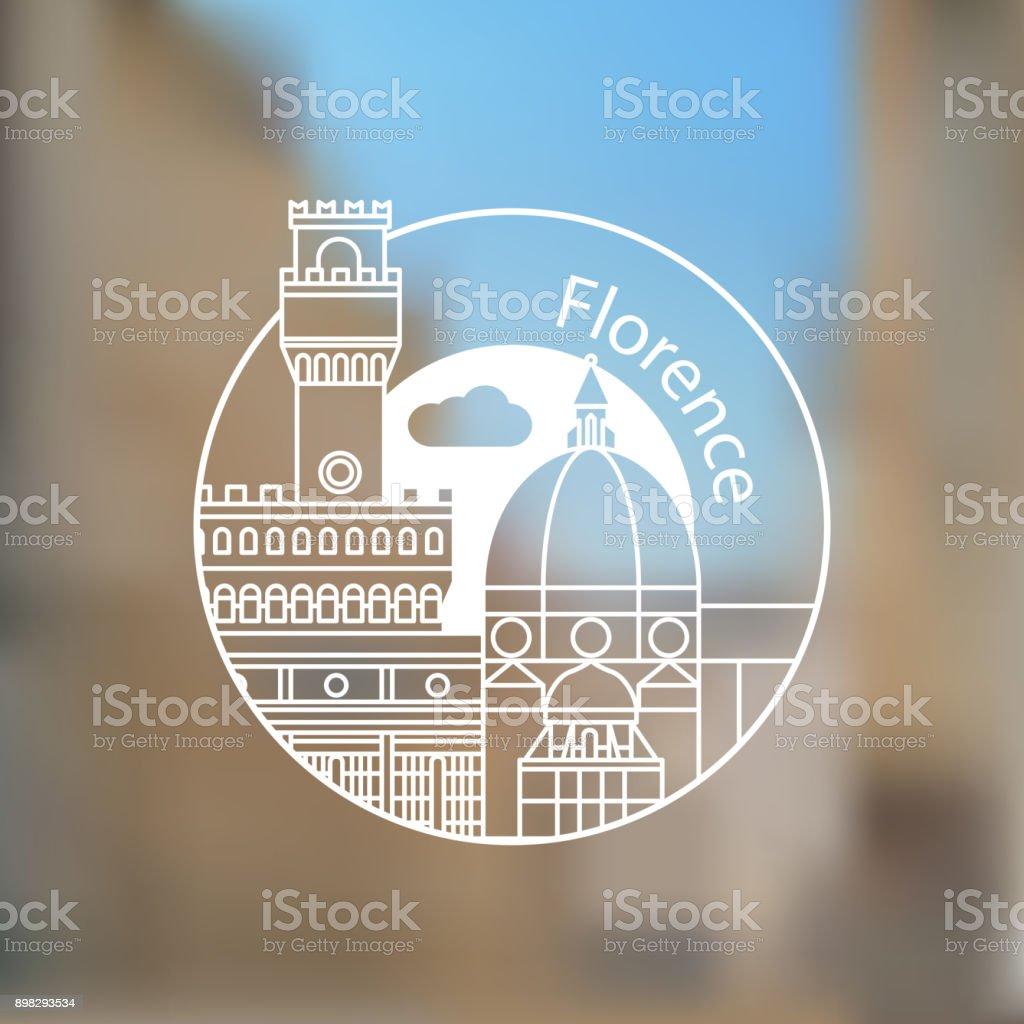 Florencia vector art illustration