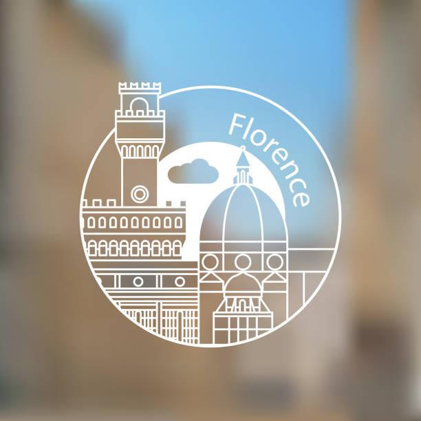 illustrazioni stock, clip art, cartoni animati e icone di tendenza di florencia - firenze