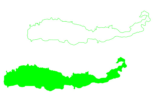 Flores island (Republic of Indonesia, Lesser Sunda Islands, South East Asia) map vector illustration, scribble sketch Flores map
