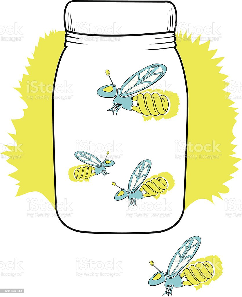 florescent firefly in a jar stock vector art 138194139 istock