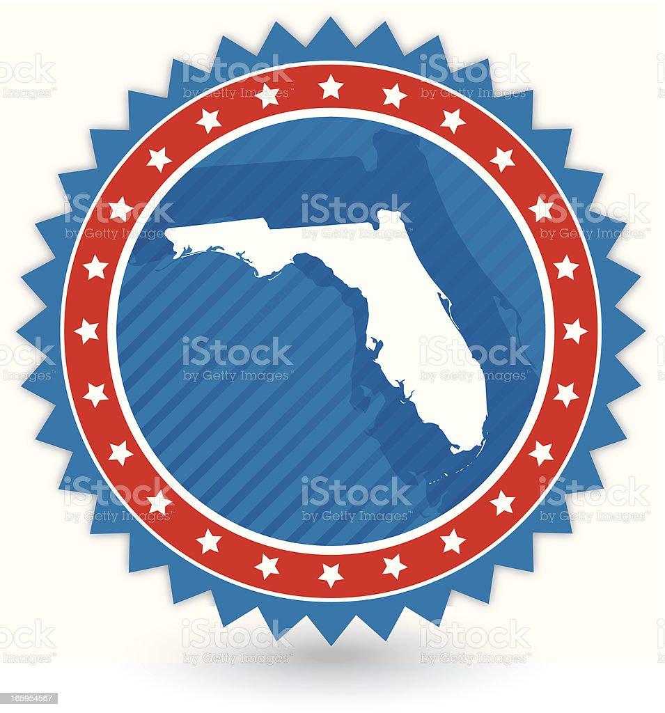 florida badge royalty-free stock vector art