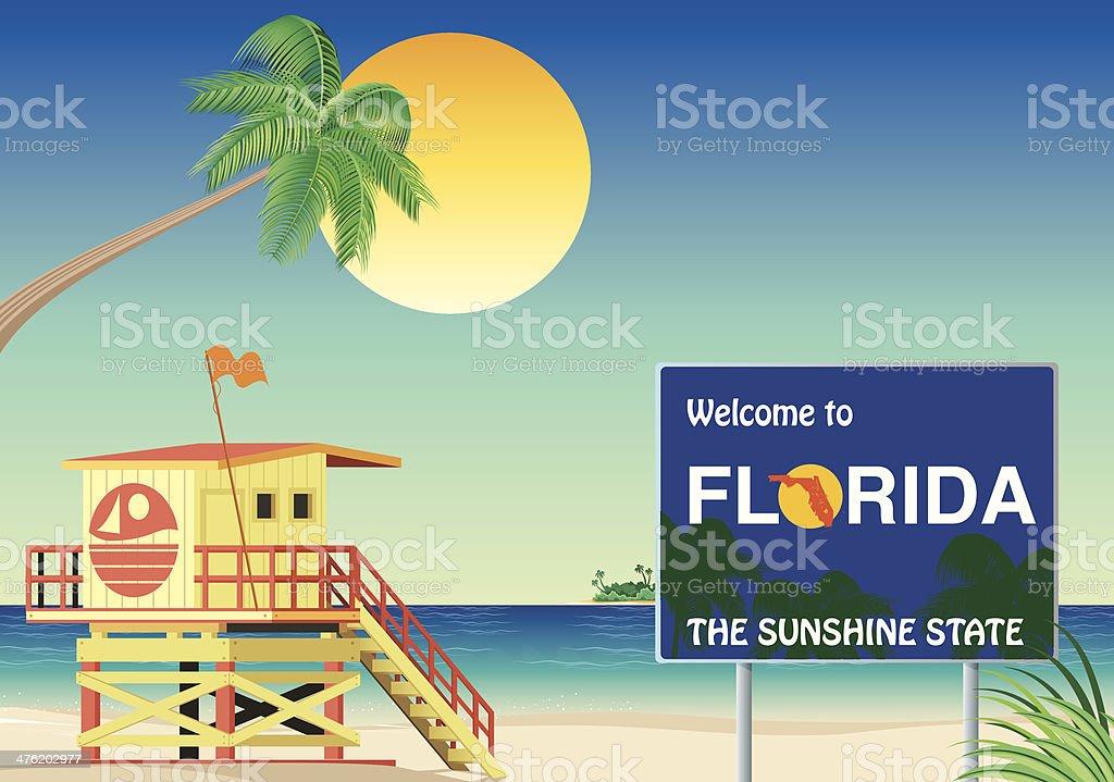 Florida Beach royalty-free stock vector art
