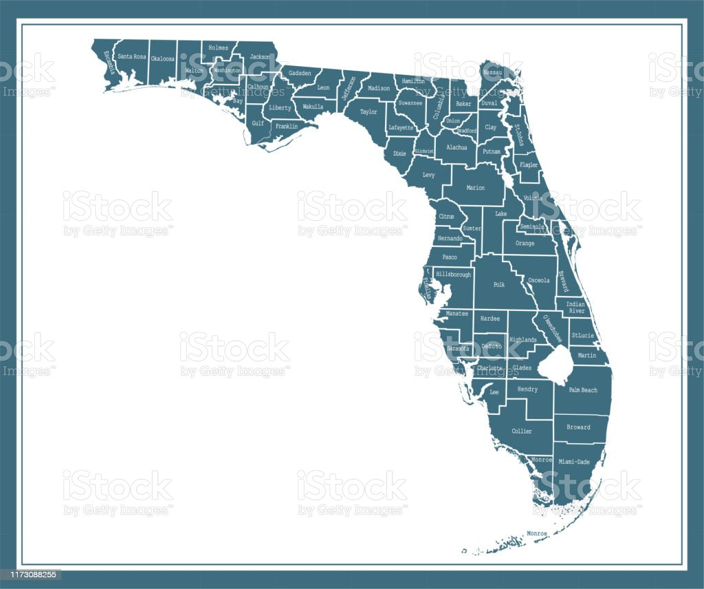 It's just an image of Florida County Map Printable regarding blank