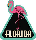 Vector Florida luggage label or travel sticker.