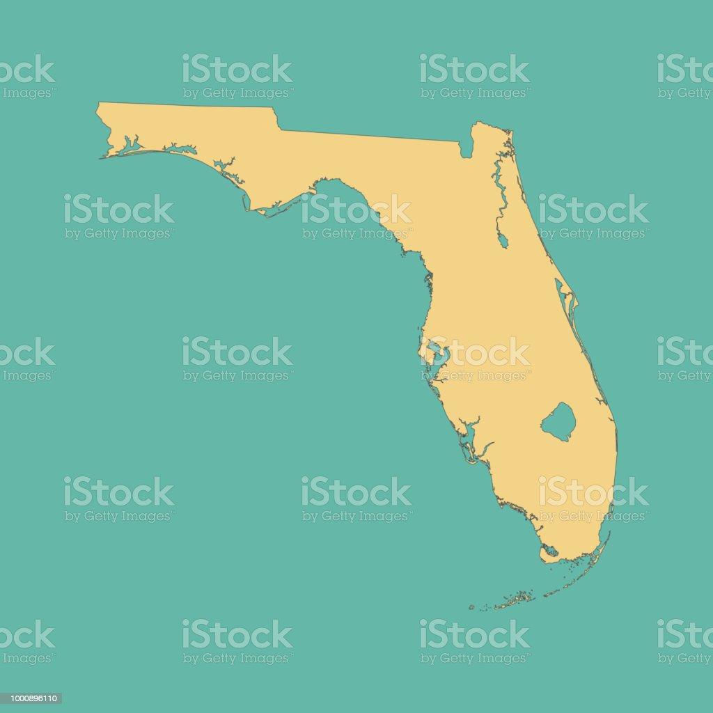 Carte Amerique Floride.Carte De La Floride Vecteurs Libres De Droits Et Plus D