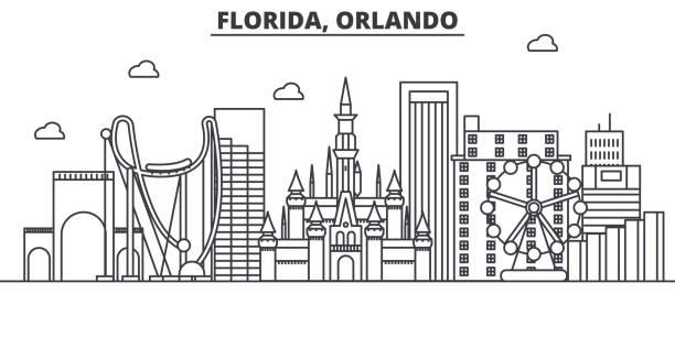 Orlando Clip Art : Royalty free orlando florida skyline clip art vector