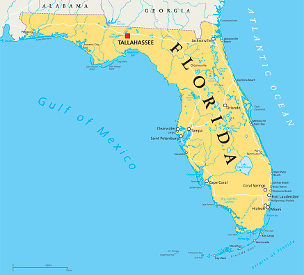 Florida political map