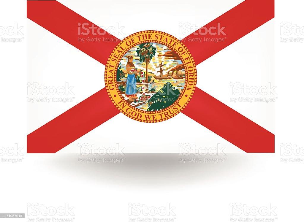 Bandeira da Flórida - ilustração de arte em vetor