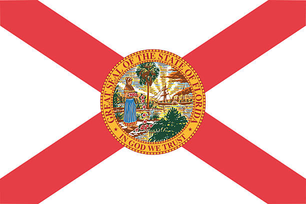Florida State Flag EPS and JPEG florida us state stock illustrations