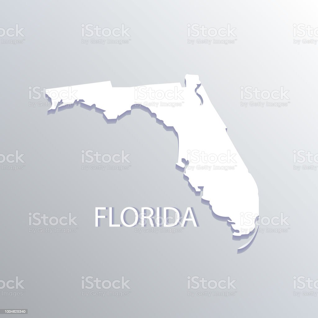 Map State Of Florida.Florida State Flat Map Vector Image Stock Vector Art More Images