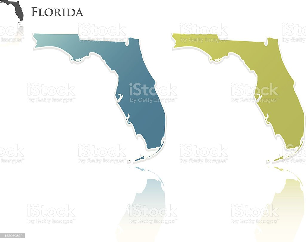 florida state graphic royalty-free stock vector art