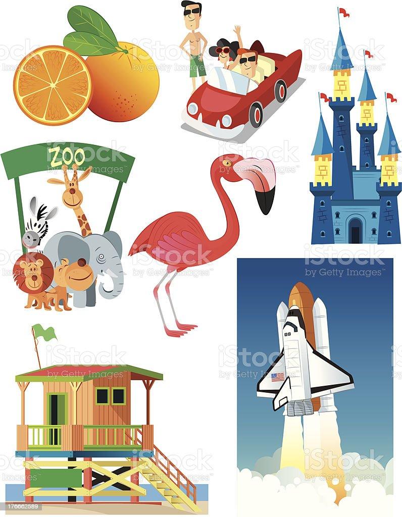 Florida Symbols royalty-free florida symbols stock vector art & more images of animal