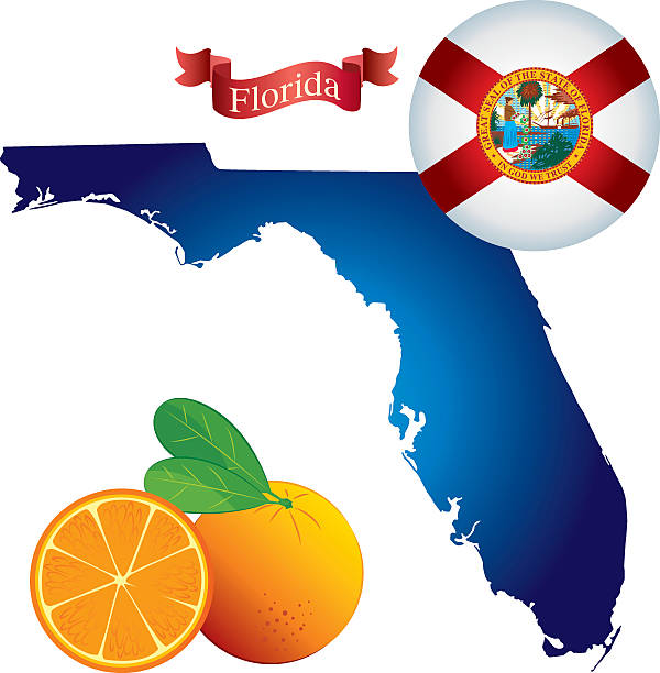 Florida Clip Art Map