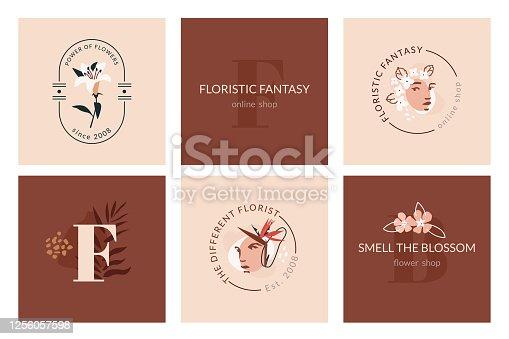 istock Floristic Fantasy Emblems 1256057598