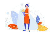 istock Floristics, hobby, creativity, occupation, business concept 1251280724