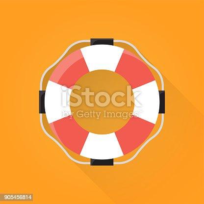istock Flotation Ring Flat Icon 905456814