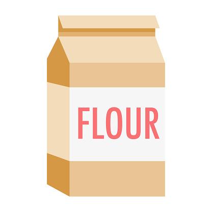 Flour Icon on Transparent Background