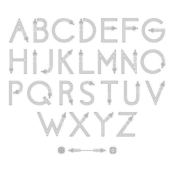 Flourish Alphabet vector art illustration
