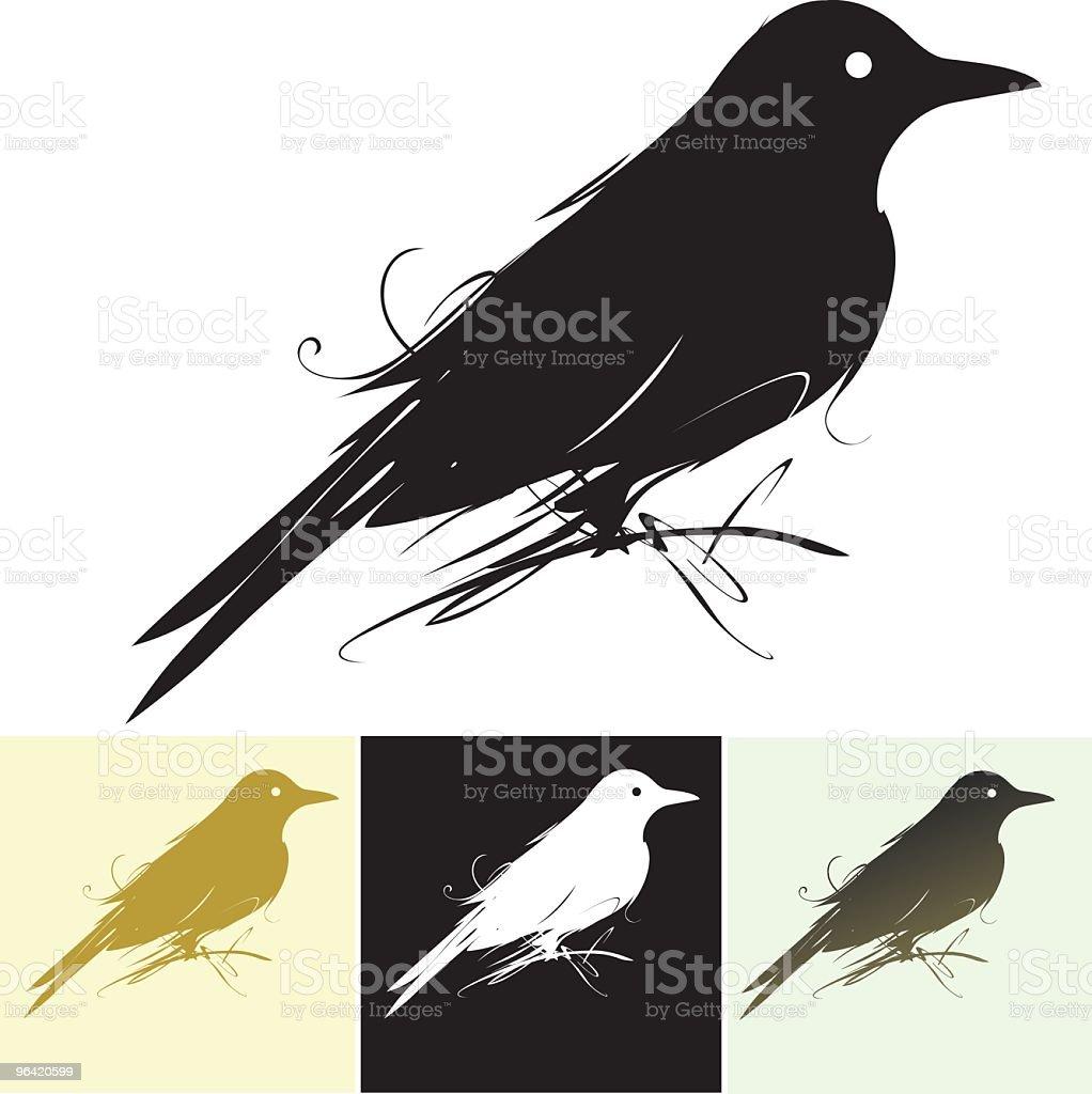 Flourish Bird vector art illustration