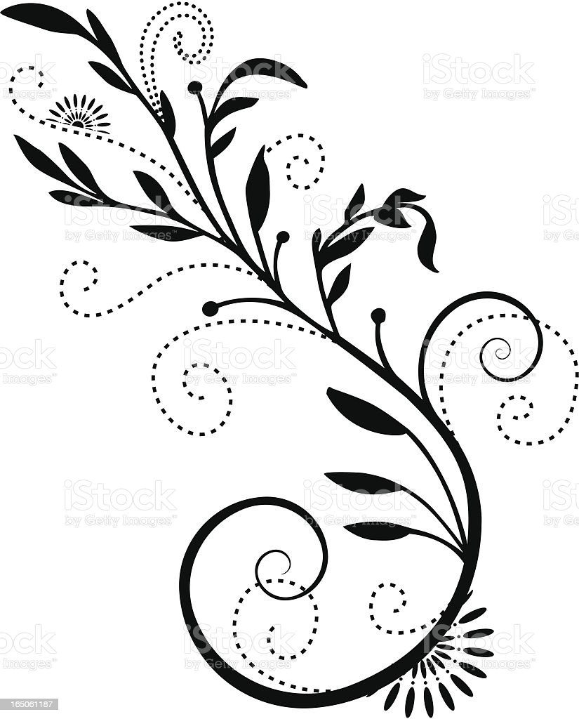 Flourish Design Element royalty-free stock vector art