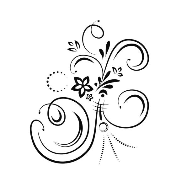 stockillustraties, clipart, cartoons en iconen met ontwerpelement bloeien - maaswerk