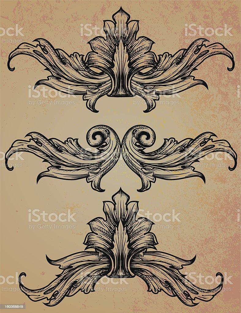 Flourish element vector art illustration