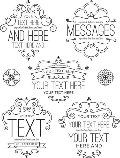 Flourish Frames and Labels Two vector art illustration