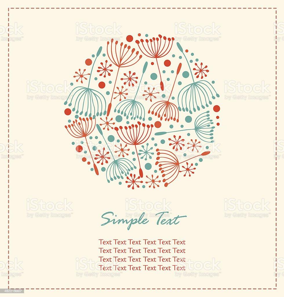 Flourish hand drawn cute card royalty-free stock vector art