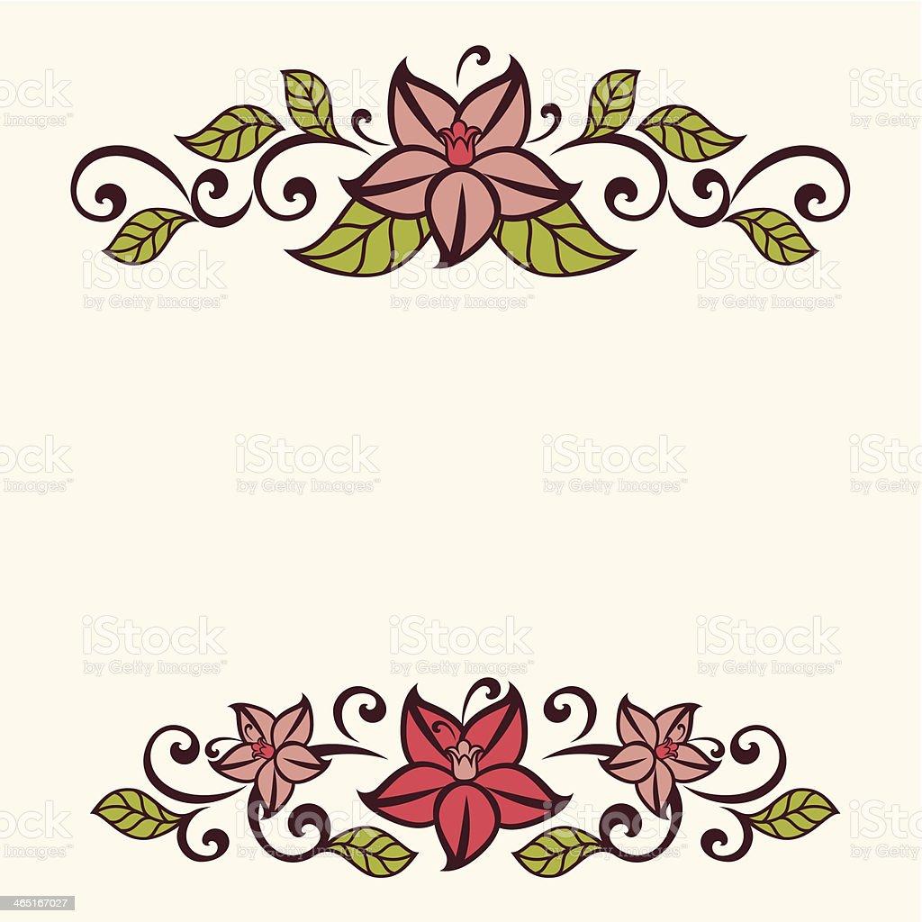 Flourish invitation card. vector art illustration