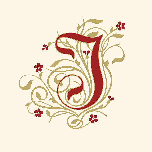 Royalty Free Vector Golden And Red Letter J Clip Art Vector Images
