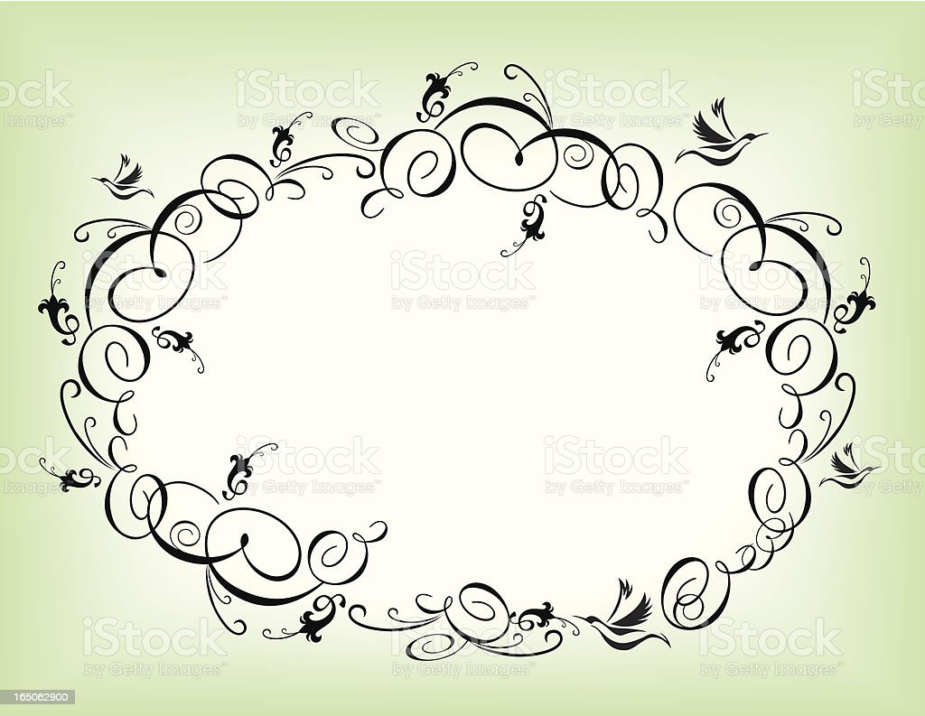 Flourish oval frame royalty-free flourish oval frame stock vector art & more images of art and craft