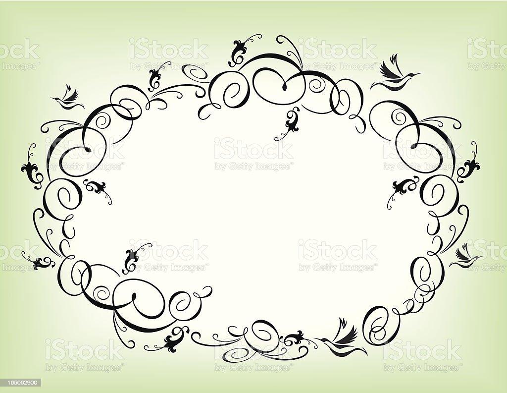Flourish oval frame royalty-free stock vector art